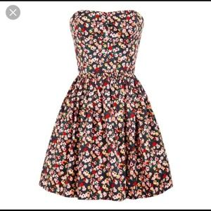 Jack Wills Merrifield Navy Floral Dress